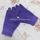 Beauty purple weave gel moisturisers gloves Person care mineral oil five finger gel moisturisers gloves
