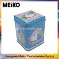 chino de marca de té de metal antiguos cajas de lata
