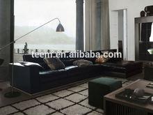modern synthetic leather sofa set teak wood sofa