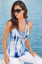 2014 ladies hot selling new design top oceanic tie-dye women top