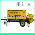 2014 nuevo producto 10% off hbt diesel/eléctrico pequeño trailer de la bomba de hormigón para la venta