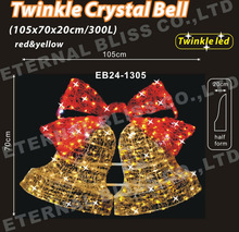 big crystal christmas bell for holiday decoration