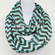 Polyester chevron infinity scarf