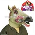 No- tóxico de látex completo realista de la cabeza de goma caballo zombie máscara
