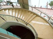 Super luxury hotel interior design natural marble decorative stair nose
