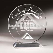 Top grade custom round engraving acrylic award stands manufacturer