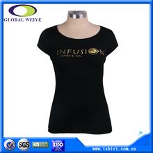Custom women printing big neck t-shirt