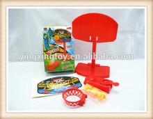 Plastic playing shooting game mini finger bastertball toys