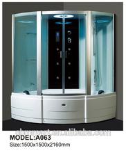 blue film steam shower cabin shower room rotating foot massage