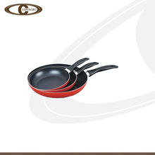 Eco friendly red aluminum non-stick frying pan set cookware