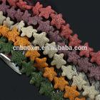 New Arrival DIY Jewelry Beads Star Lava Stone