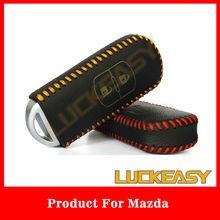 Cowhide Leather Car Remote Key holder Case for Mazda 2