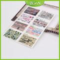 bqan 8 pcs por embalagem 2d selos de arte do prego da etiqueta