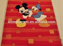 Hand tufted Kids acrylic carpet for children room