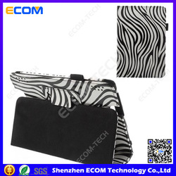 Black and white zebra leather case for Amazon kindle fire hd 7 with auto wake sleep function
