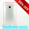 Excellent Plastic Clear Hard Phone Case for HTC m7 phone cover