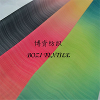 gradient color sublimation printed chiffon fabric