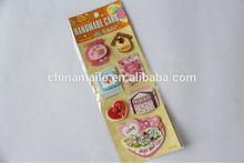 3d handmade sticker with diamond
