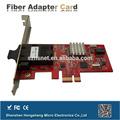 Ieee 802.3u 100base-fx pci coaxial estándar de fibra óptica de la red de lan de fibra óptica de tarjeta de pc