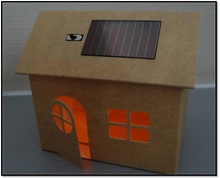 Educational Diy doll house models with light