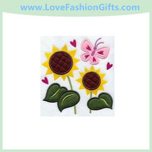 Sunny Flowers Folk Art (Applique)