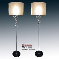 brass floor lamp chrome with stone base