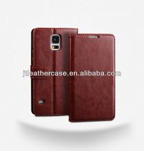 Dark Brown man's PU Leather Case For Samsung Galaxy s5