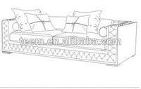 Divany Furniture bedroom furniture LS-105B sofa design world map furniture