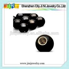 Threaded Black Titanium Anodized Surgical Steel Balls