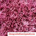 long shaggy pilha alta carpe tapete liso poliéster brilhante cor de rosa de seda 1200d com estiramento de fios
