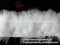 Wholesale Cheap SNOW WHITE Marabou Turkey Fluff Feather Fringe Trim