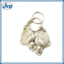 high quality animal monkey plush metal keychain