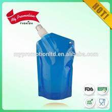 Light blue foldable water bottle