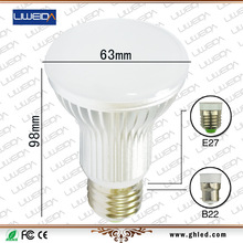 new design led 7W 80lm/w mushroom led bulbs housings