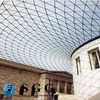 High Quality curved ceiling glass panel