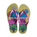 2014 damas sandalias y zapatillas, apartamento de playa sandalia