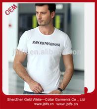 OEM men's o-neck short sleeve letter print T-shirt