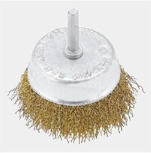 Stainless Steel Wire Cup Brush with Shaft
