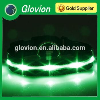 High light glow led collar Green led pet collar safety lighting dog collar for tracking