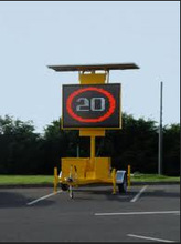 Full Pixels Mobile LED Dispaly Various Speed Limit Traffic Signs Trailer