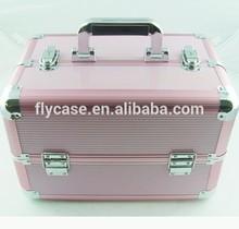 Aluminum beauty case for eyelash cosmetic case aluminum case with combination lock
