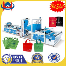 Taiwan Ultrasonic non woven pvc bag by non woven bag making machine
