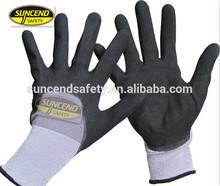 3/4 sandy nitrile dipped oil resistant gloves grip