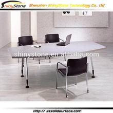 Graceful cafe bar acrylic solid surface office desk plans