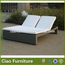 Western style double sun bed, human body mechanics double sun lounger