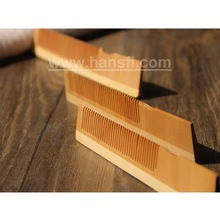 hot sell logo customized natural hotel wood comb