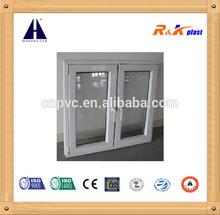 PVC 60 series intward swing french window, double casement window