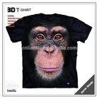 Custom short sleeve t-shirt 3D animal t-shirt and fashion 3D t-shirt