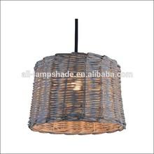 natural colour rattan knitting lamp shade