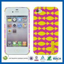 C&T Bright multicolor regular printed design for iphone 4s hard plastic case